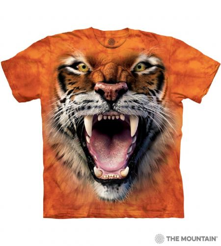 Roaring Tiger Face T-shirt | The Mountain®
